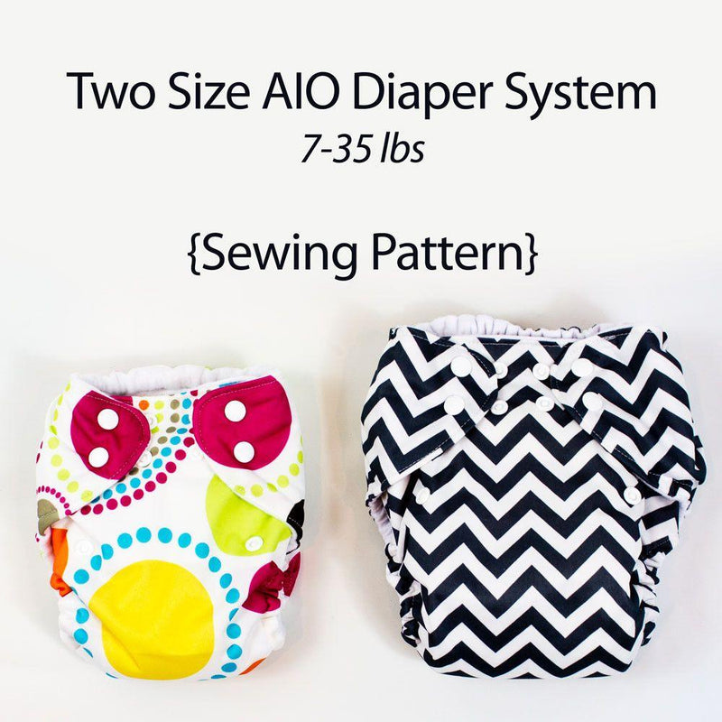 MammaCanDoIt Sewing Pattern All In One Cloth Diaper Sewing Pattern | 2 Size