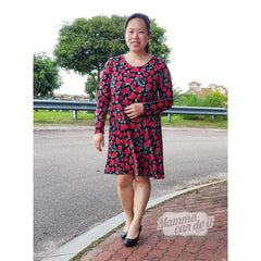MammaCanDoIt Sewing Pattern The Adalynn Dress |  Women Plus 14w-40w