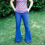 women bell bottom pants pattern