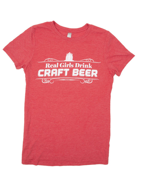 Real Girls Drink Craft Beer T-Shirt