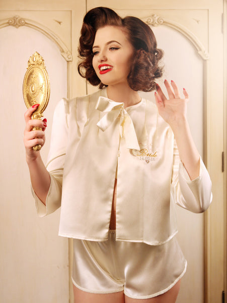 Glitter and the Moon Bride Bed Jacket