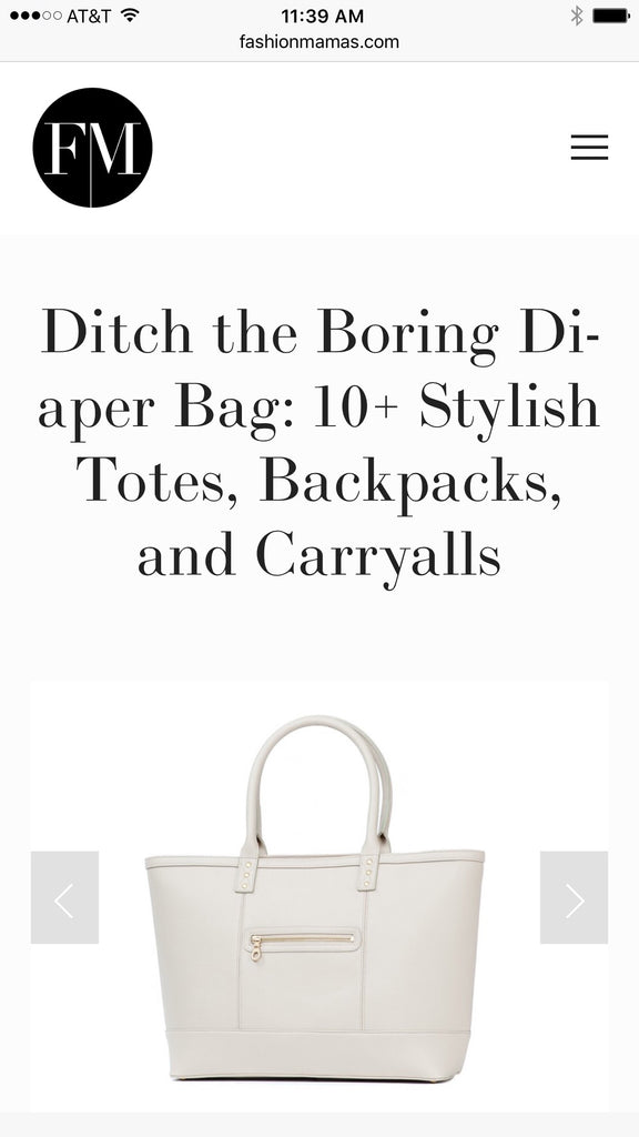 Ditch the Boring Diaper Bag: The Riley Featured on Fashion Mamas
