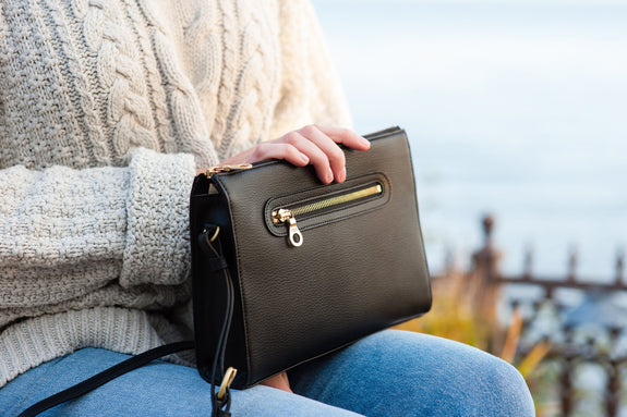 The Pixley is the best luxury vegan leather handbag; a cruelty-free, high-end accessory by Filbert.