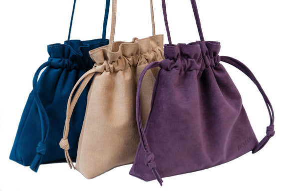 Best Vegan Suede Drawstring Handbags - Designer Accessories