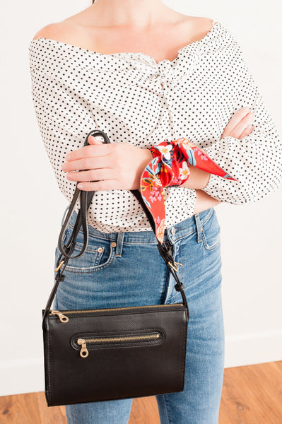 The Neckerchief, Rifle print red floral