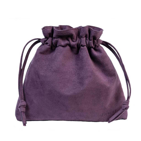 Best Vegan Suede Drawstring Handbag - Luxury Accessory
