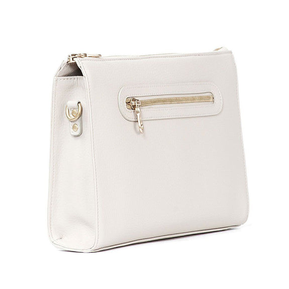 The Pixley in white is the best luxury vegan handbag; a cruelty-free, designer accessory by Filbert.