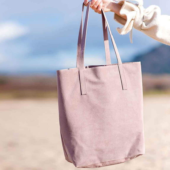 The Stanyan in rose is the best luxury vegan handbag; a cruelty-free, designer accessory by Filbert.