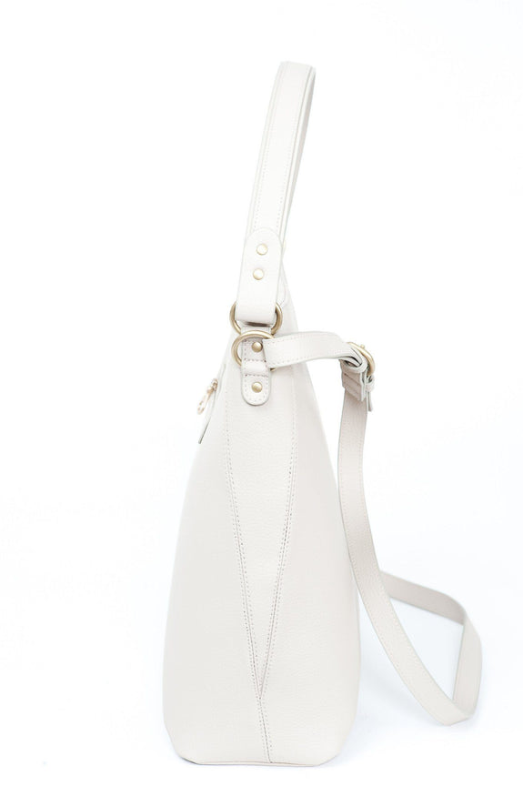 The Baker - Luxury - Vegan - Handbags - CrueltyFree  - Hobo Bags - White