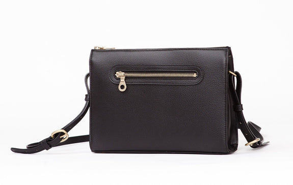 The Pixley in black is the best luxe vegan handbag; a cruelty-free, high end accessory by Filbert.