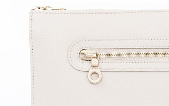 The Pixley in white is the best luxe vegan handbag; a cruelty-free, high end accessory by Filbert.