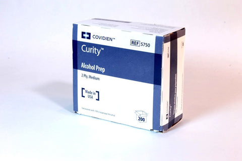 CURITY™ Alcohol Preps Pad Wipes, Box 200