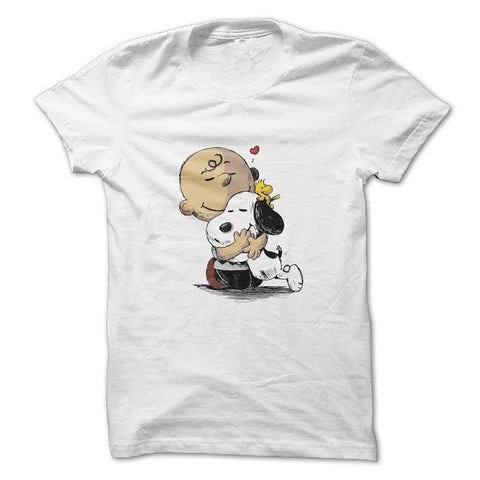 Camiseta snoopy Charlie Brown Jr. masculina / branca / Camisetas do Snoopy