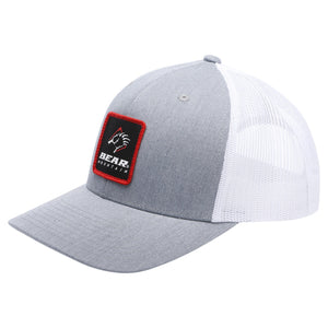 Heather Grey/White Bear Mountain Patch Logo Mesh Trucker