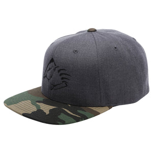 Camo/Gray Bear Mountain Embroidered Claw Logo Hat