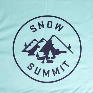 Ocean Snow Summit Sweatshirt Blanket