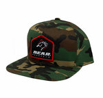 Camo Bear Mountain 6 Panel Claw Logo Snapback