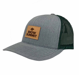 HGN Snow Summit Trucker Hat with Leather Patch Logo