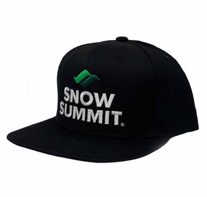 Black Snow Summit Emboidered Logo Snap Hat