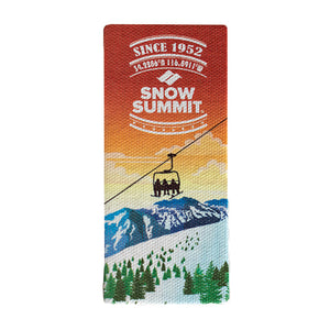 Snow Summit Square Magnet