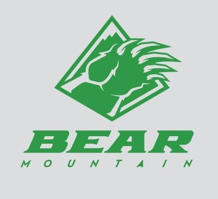 Green Bear Mountain Logo Sticker