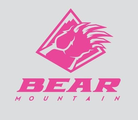 Pink Bear Mountain Logo Sticker