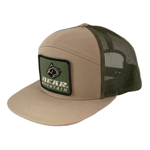 Bear Mountain 7 Panel Hat with Embroidered Patch