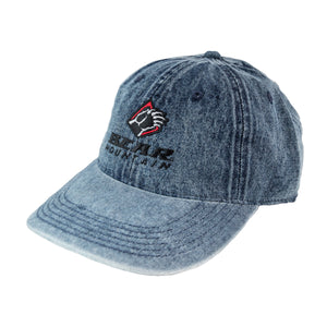 Bear Mountain Womens Denim Embroidered Cap