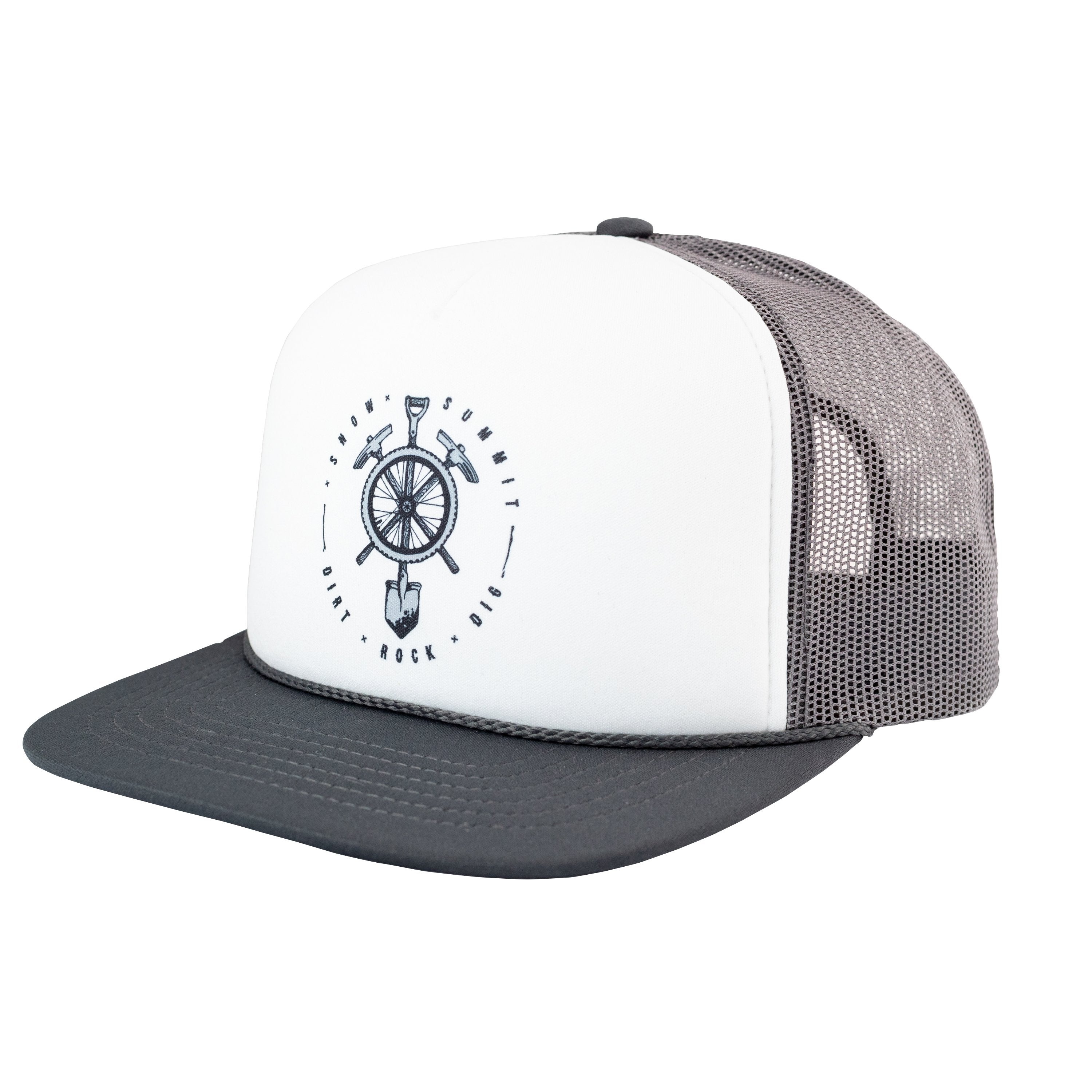 White and Grey Snow Summit branded trucker hate