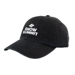 Black Cap with Embroidered Snow Summit Logo
