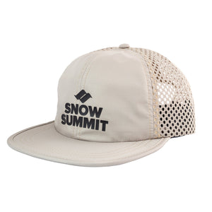 Khaki Snow Summit Perforatedl Cap with Silicone Transfer Logo