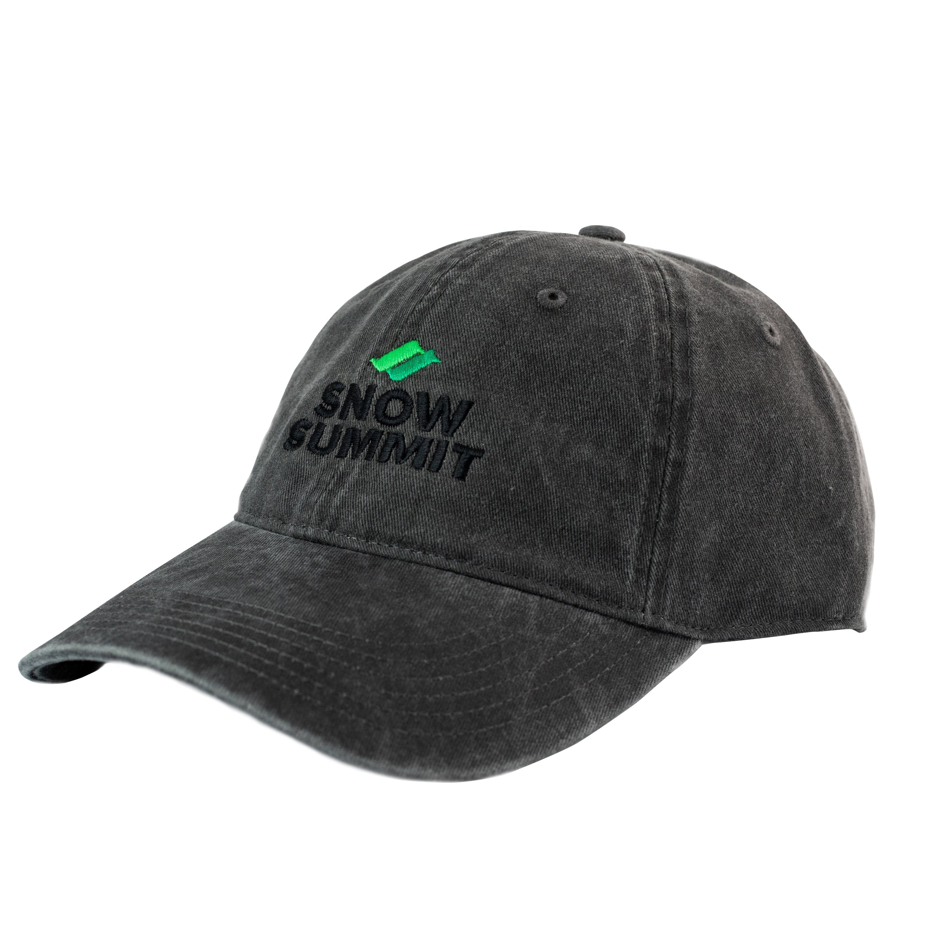 Charcoal Cap with Embroidered Snow Summit Logo