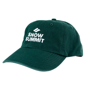 Dark Green Cap with Embroidered Snow Summit Logo