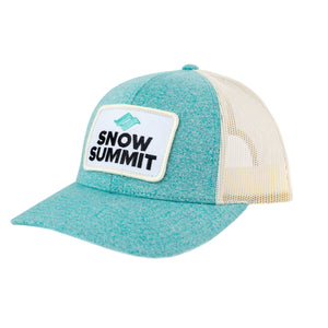 Womens's Teal and Cream Baseball Cap with Snow Summit Logo
