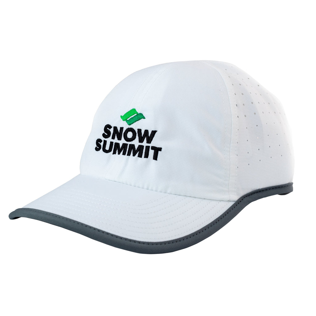 Women's White Active Cap with Snow Summit Logo