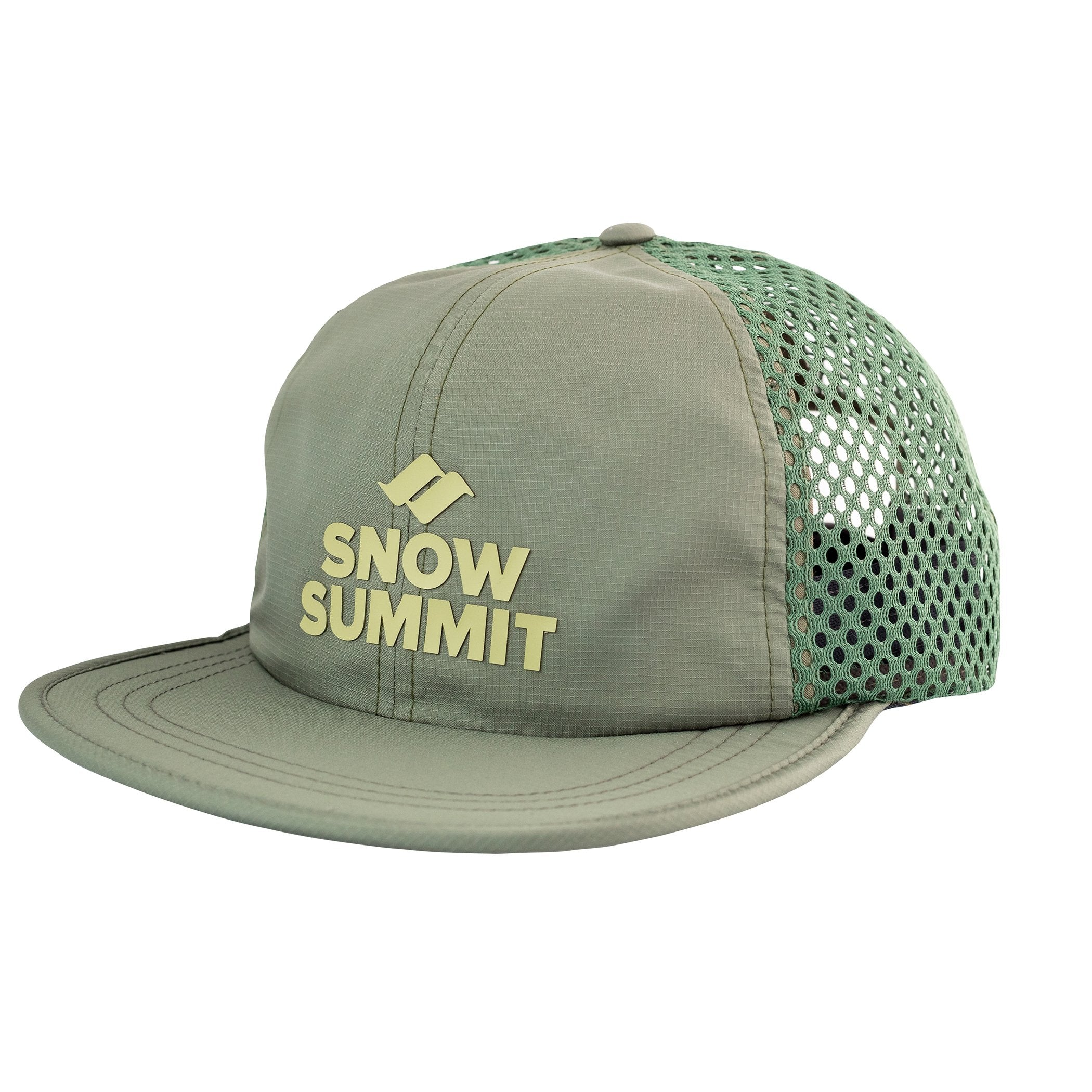 Olive Snow Summit Perforated Cap with Silicone Transfer Logo