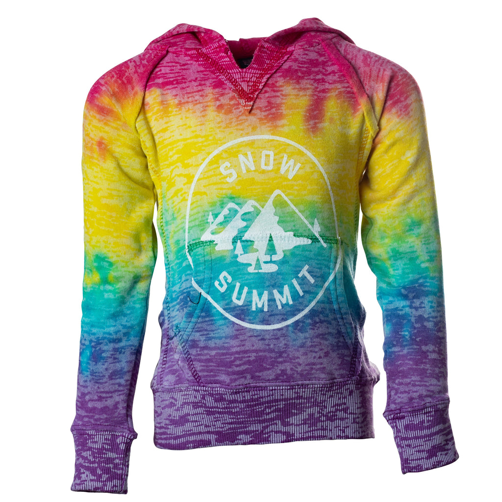 Rainbow Women's Courtney Burnout Hoodie with Snow Summit Alpine Logo