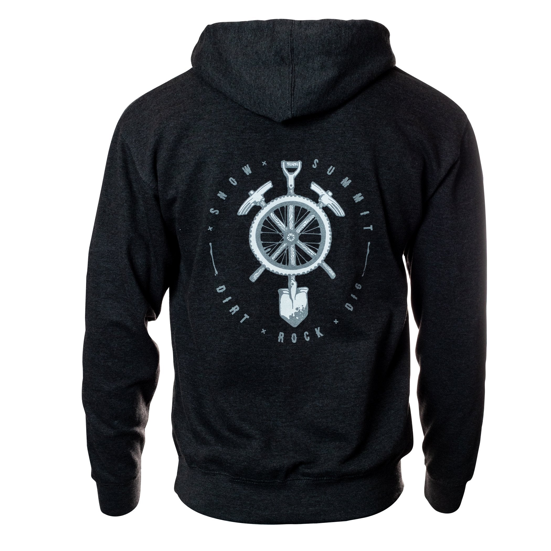 Charcoal Hoodie with Snow Summit Trailbuilder Logo