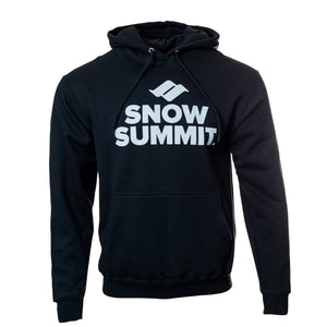 Black Hoodie with white Snow Summit Big Logo