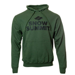 Army Green Hoodie with black Snow Summit Big Logo