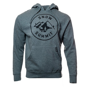 Heather Charcoal Hoodie with Snow Summit Alpine Logo