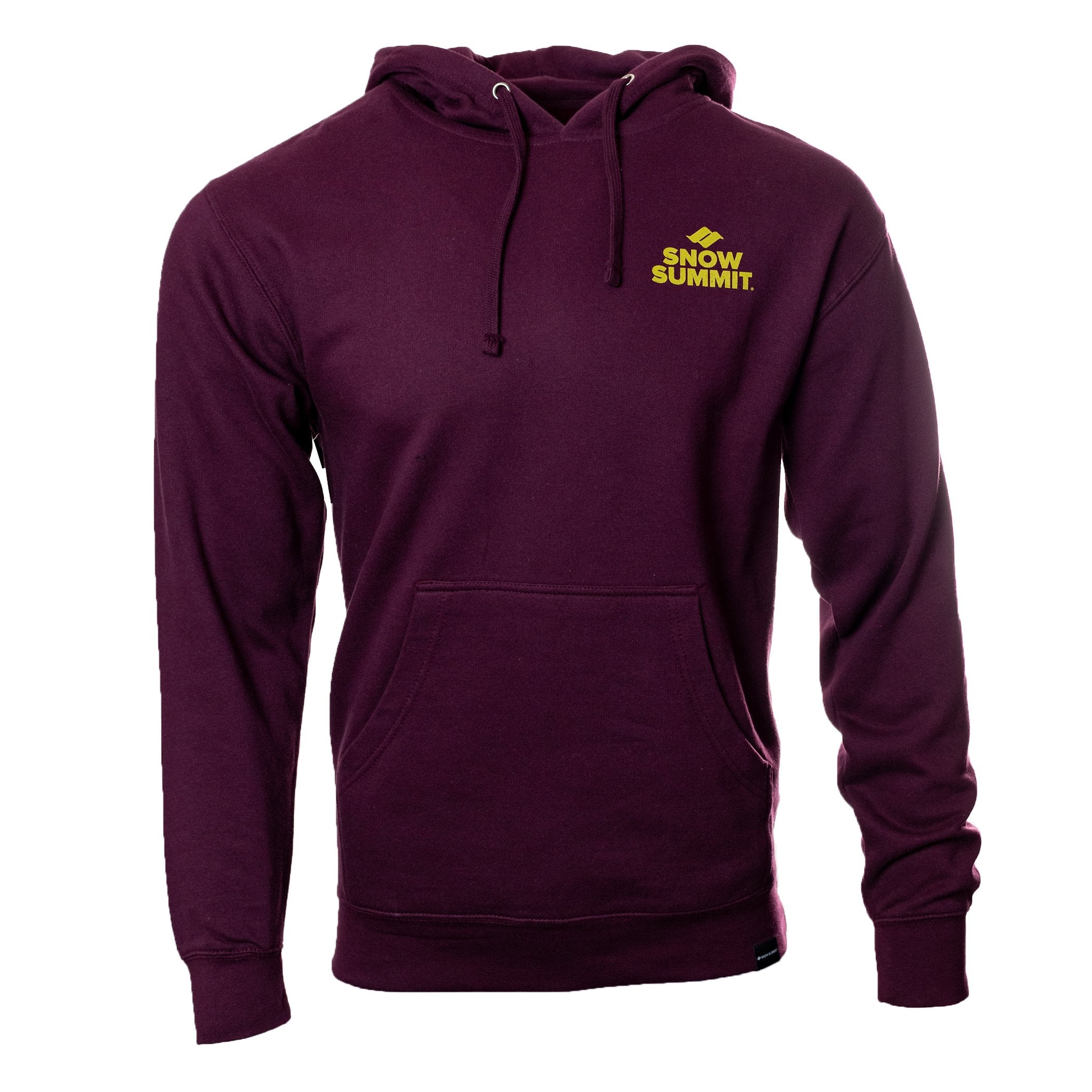 Burgandy Hoodie with Snow Summit Trailbuilder Logo