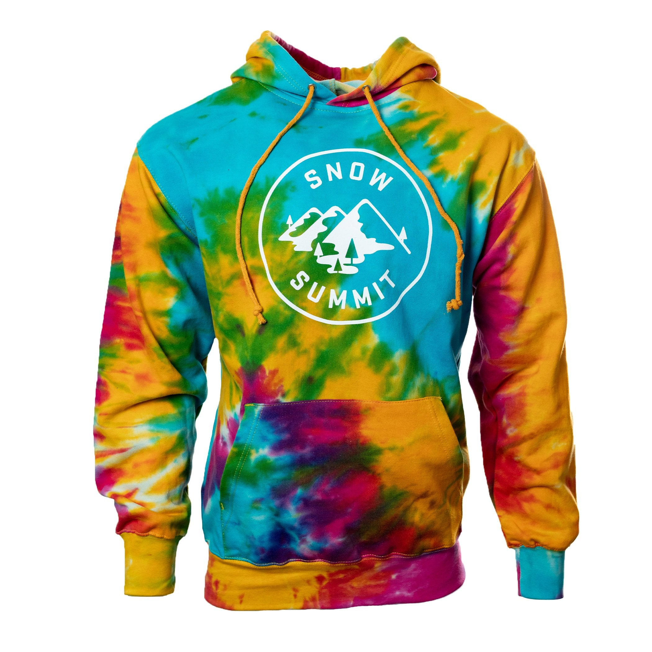 Classic Tie-Dye Hoodie with Snow Summit Alpine Logo