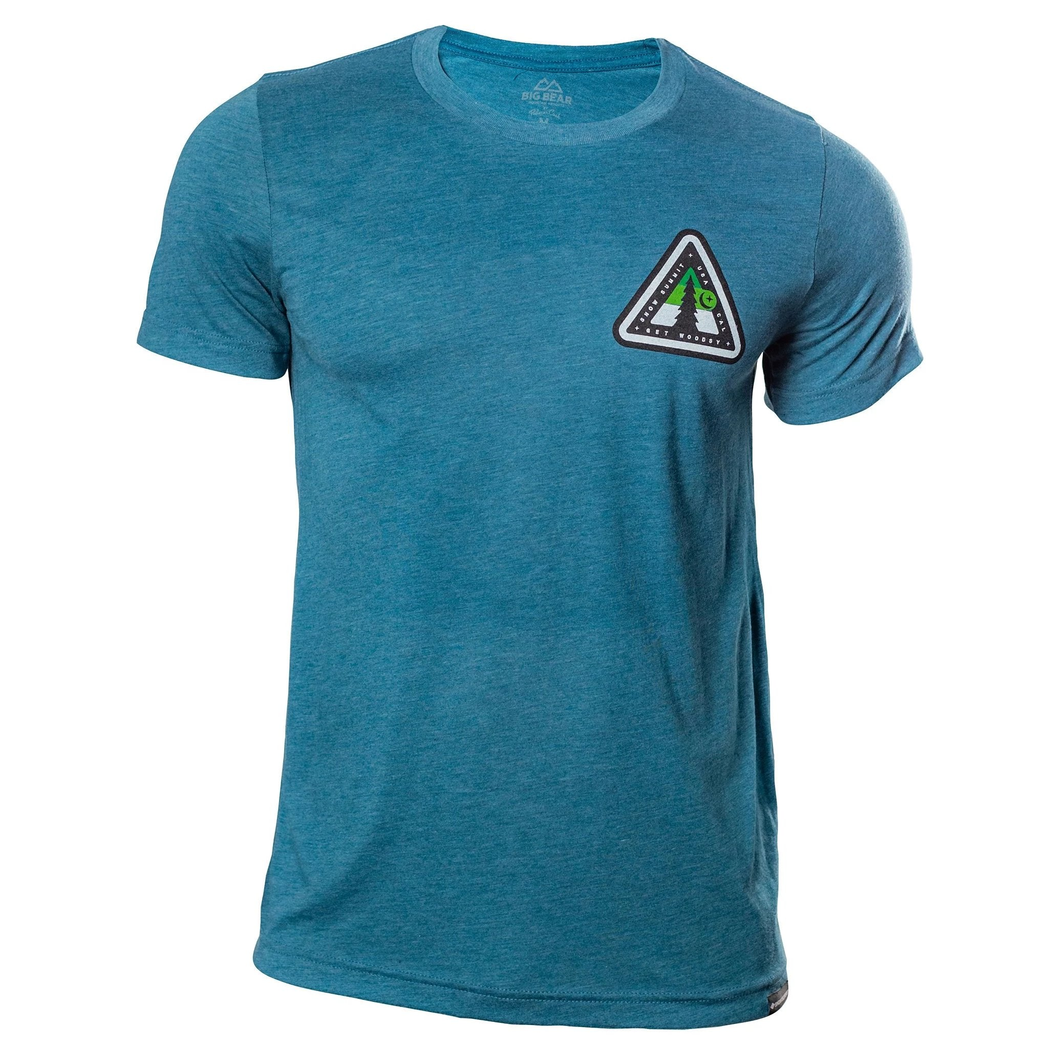 Steel Blue T-Shirt with Snow Summit Woodsy Logo