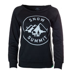 Women's Black Crewneck Sweatshirt with Snow Summit Alpine Logo