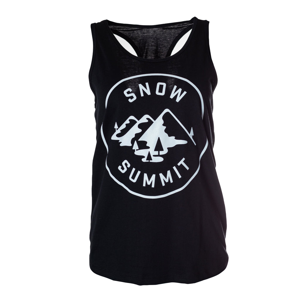 Black Snow Summit Women's Patch Tank Top with Alpine Logo