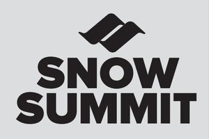 Black Snow Summit Logo Sticker