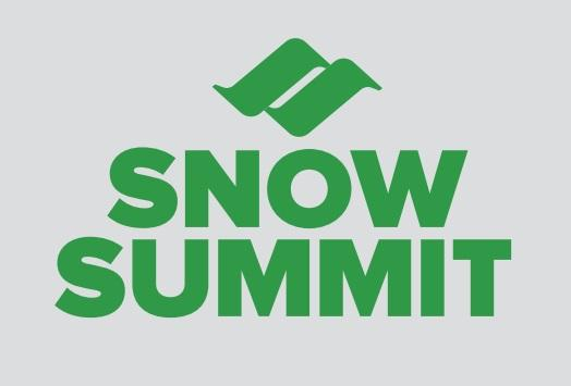 Green Snow Summit Logo Sticker