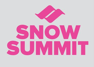 Pink Snow Summit Logo Sticker