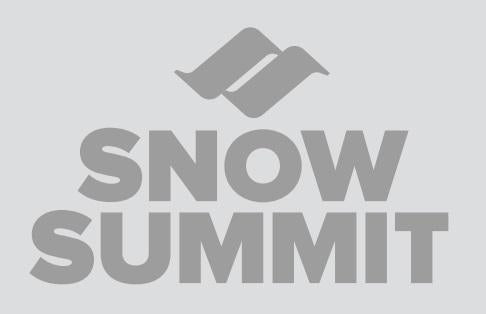 Silver Snow Summit Logo Sticker